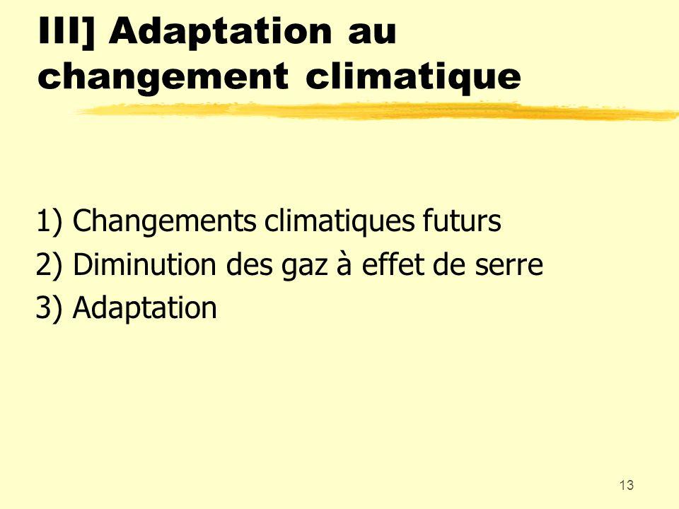 III] Adaptation au changement climatique